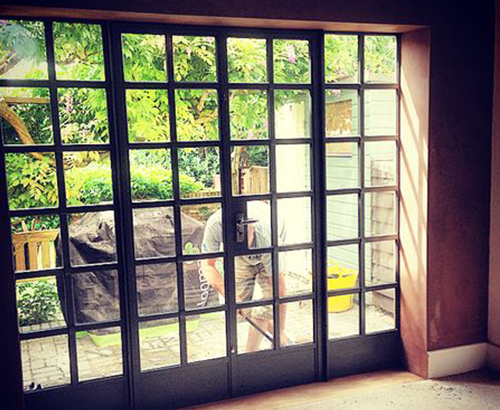 Metal french doors pictures to pin on pinterest pinsdaddy for Metal french doors exterior