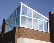 Contemporary Hardwood Conservatory